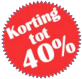 Korting Tot 40%